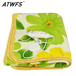 ATWFS Security Single Bed Plush Electric Heated Blanket Electric Bed Heating Blanket Body Warmer Carpets Heated Carpet 150*70 CM