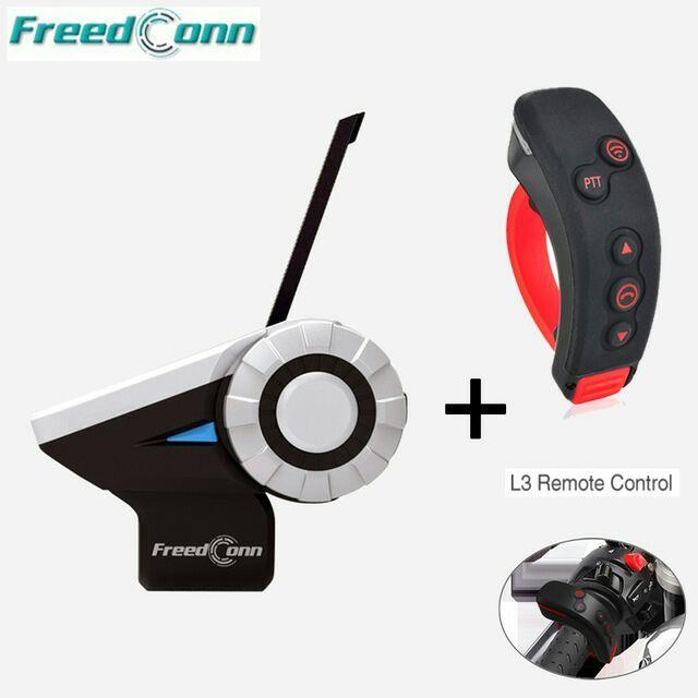 Freedconn T-Rex+L3 1500M 8-Way Full Duplex 8 Riders Bluetooth Helmet Intercom Headset With Remote Control FM Radio MP3 GPS Call