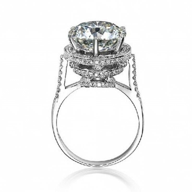 Choucong Мода 2016 года Для женщин Корона кольцо 5ct AAAAA Циркон CZ стерлингового серебра 925 Обручение обручальное кольцо для Для женщин