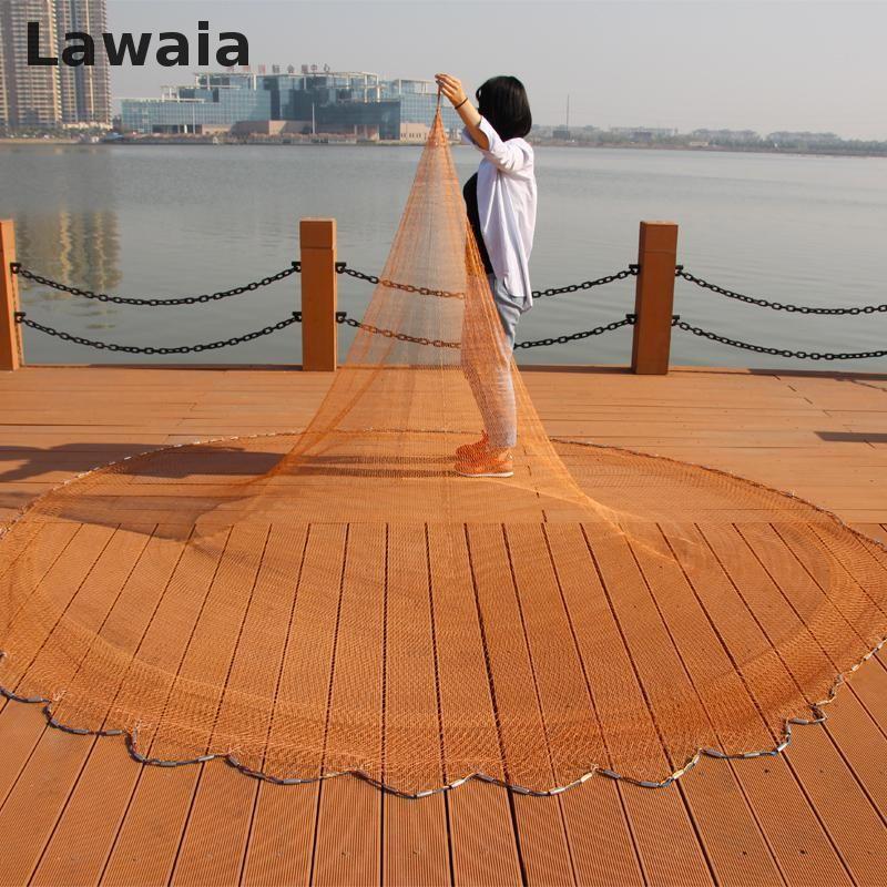 Lawaia Wurfnetze für Angeln Gewinnt Amerikanischen Net Fischernetze Pull Dreh Bold Nets Fischen Tpie Casting Hand Marke Fischerei