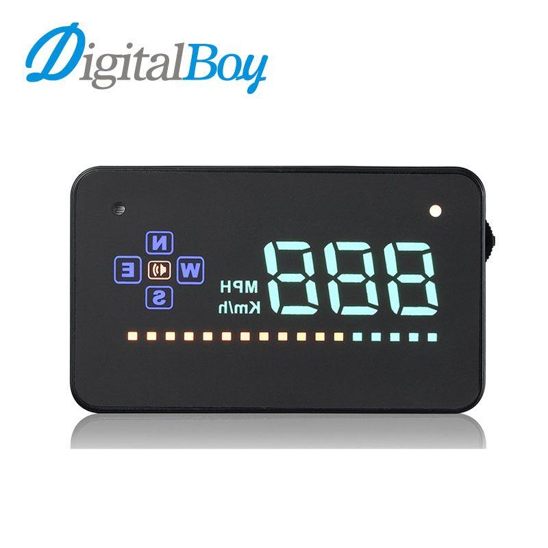 Digitalboy Universal 3.5inch Auto Vehicle GPS HUD Car Head Up Display Speedometer Overspeed Alarm Dashboard Windshield Projector