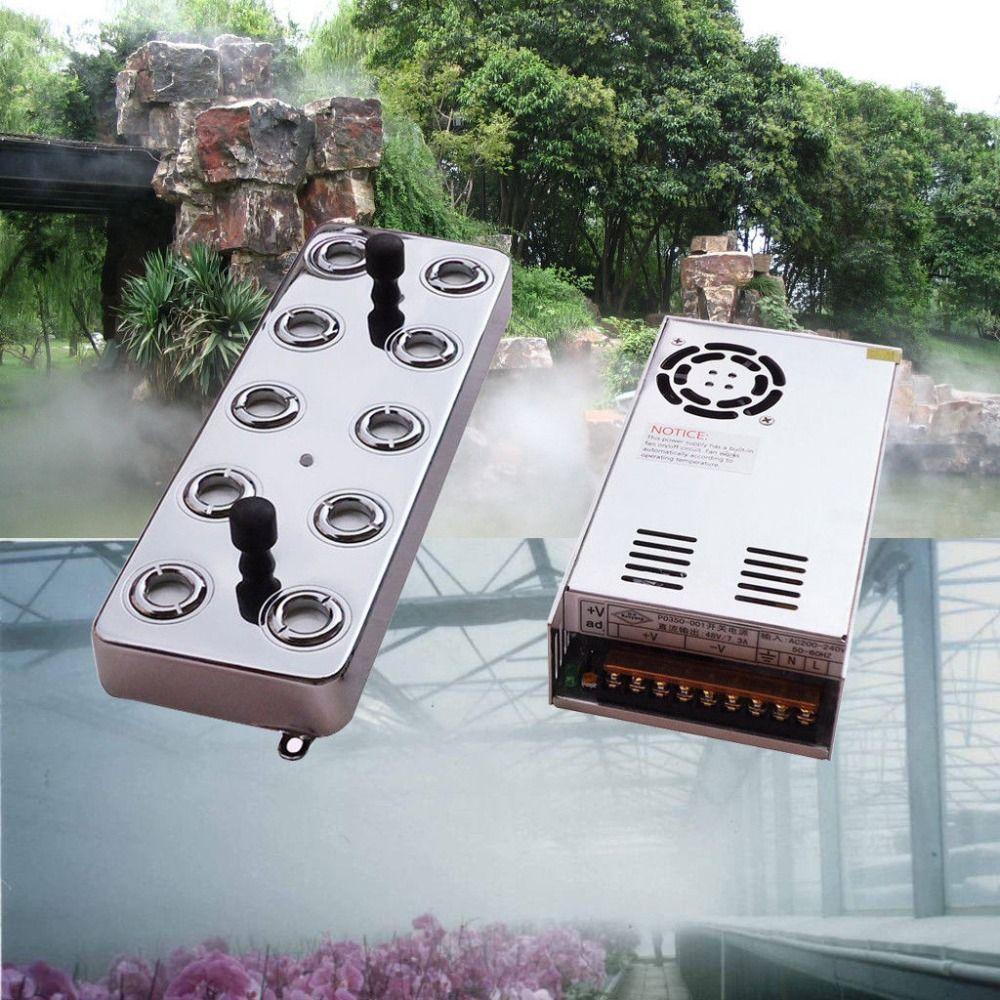 10 kopf Ultraschall Nebel Maker Fogger 7 kg/std Großer Nebel Industrie Luftbefeuchter Humidificador Park Steingarten Garten Fogger
