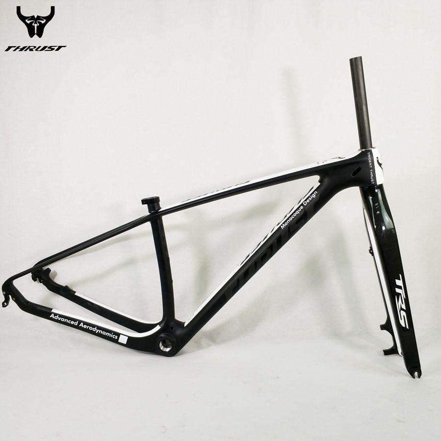 Fahrrad Carbon Rahmen 29er Mountainbike Rahmen UD Schwarz Mate Glänzend 15 17 19 zoll mit mtb Carbon Gabel 15 9mm Angepasst Farbe
