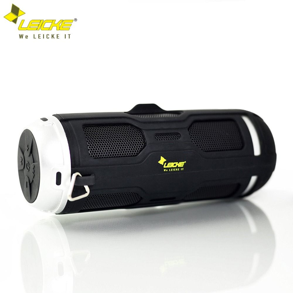 Leicke Bass Bluetooth Speaker Portable Wireless Stereo Outdoor Waterproof Column Built-in Mic FM Radio Handsfree Call