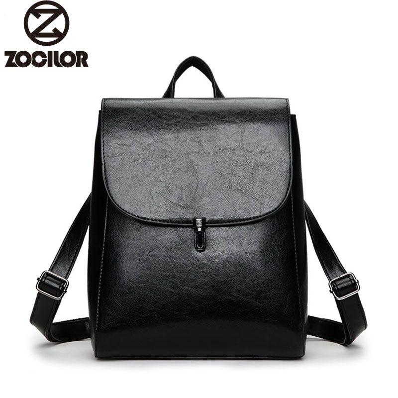 Fashion Women Backpack High Quality Youth Leather Backpacks for Teenage Girls Female <font><b>School</b></font> Shoulder Bag Lock Bagpack mochila