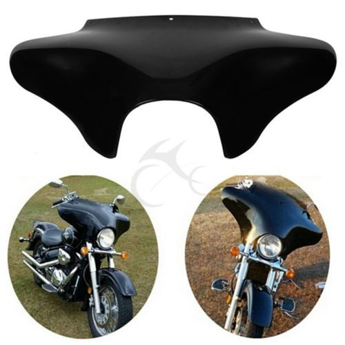 TCMT Painted Vivid Black Front Outer Batwing Fairing For Yamaha V Star 650 1100 classic Harley Softail Road King Dyna FLHT FLHX