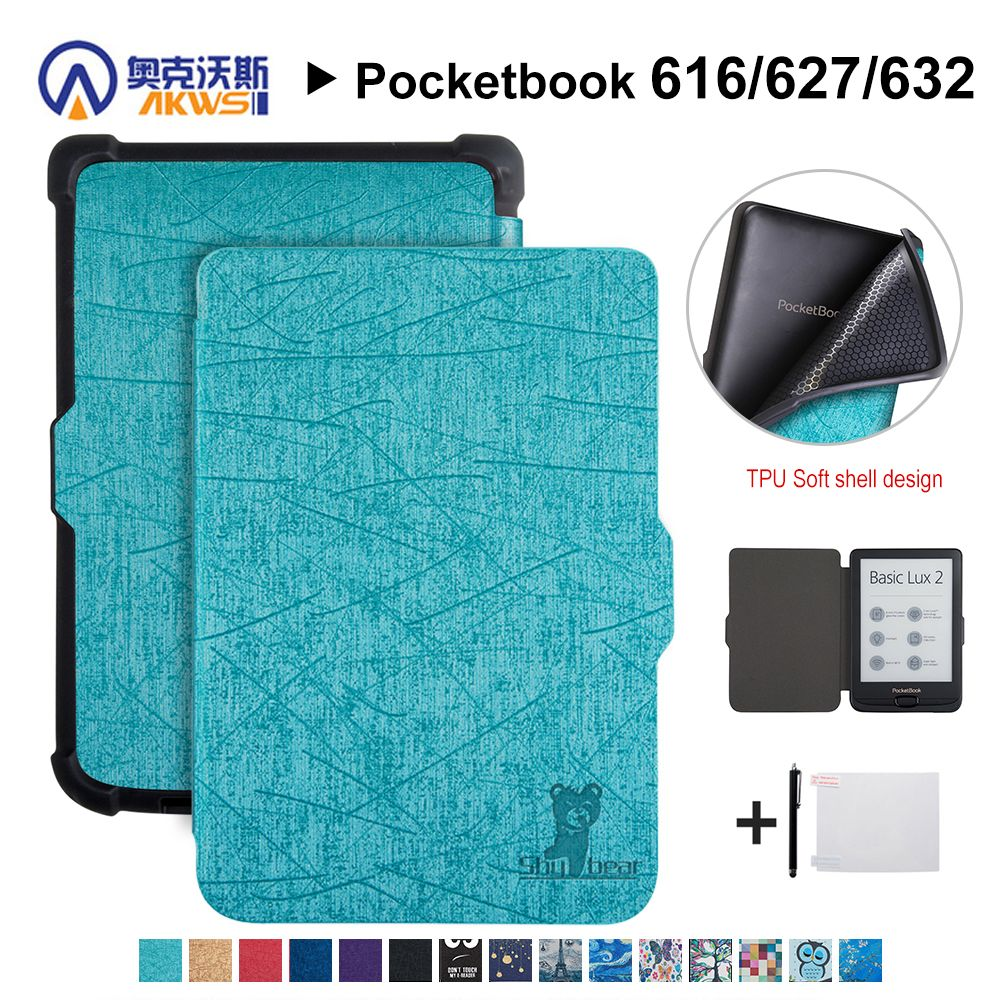 Walkers Cover case for Pocketbook 616/627/632 E-reader Cover Case for Pocketbook Basic Lux 2/touch Lux/touch HD 3+gift