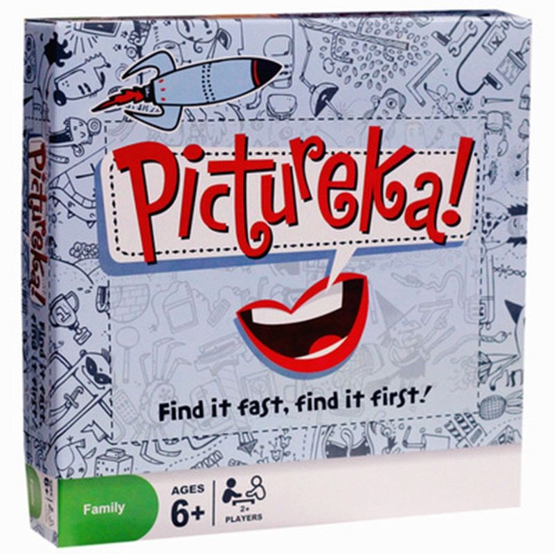 Pictureka! Puzzle Board Game Find It Fast 2-7 Players Family/Party nteresting Cards Game Entertainment