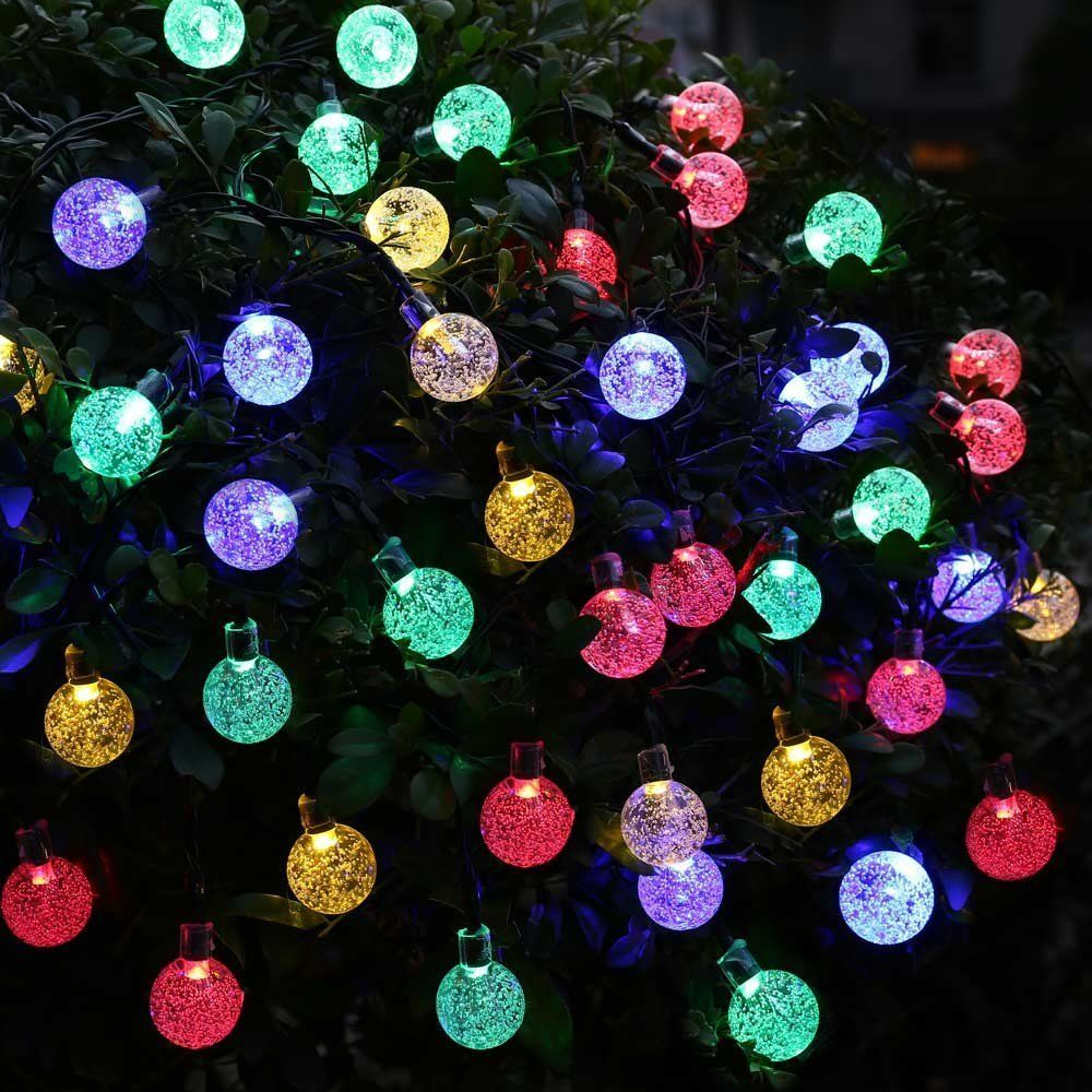 20ft 30 LED Crystal Ball Solar Powered lederTEK Brand Most Popular Globe Fairy Lights for <font><b>Outdoor</b></font> Garden Christmas Decoration