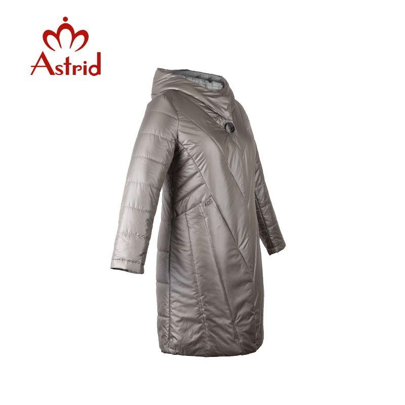 2018 women jacket spring Slim Zipper hooded warm Womens Parkas slim plus size Solid color medium-long feminina new series AM1958