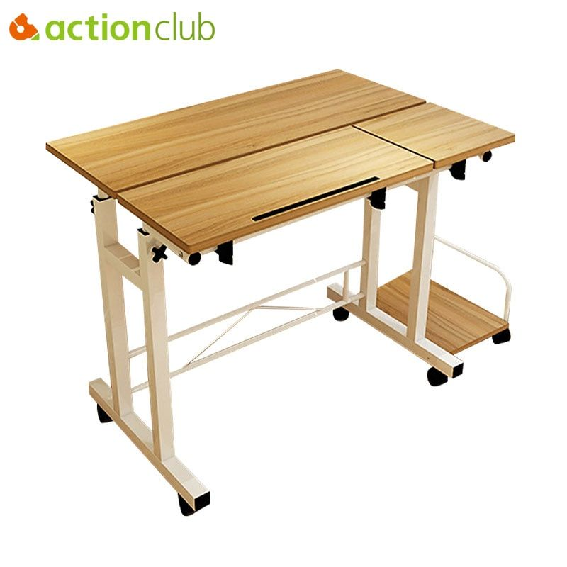 Actionclub Simple Fashion Mobile Lifting UP Down Notebook Desktop Computer Desk Folded Adjustable Learning Table Study Room