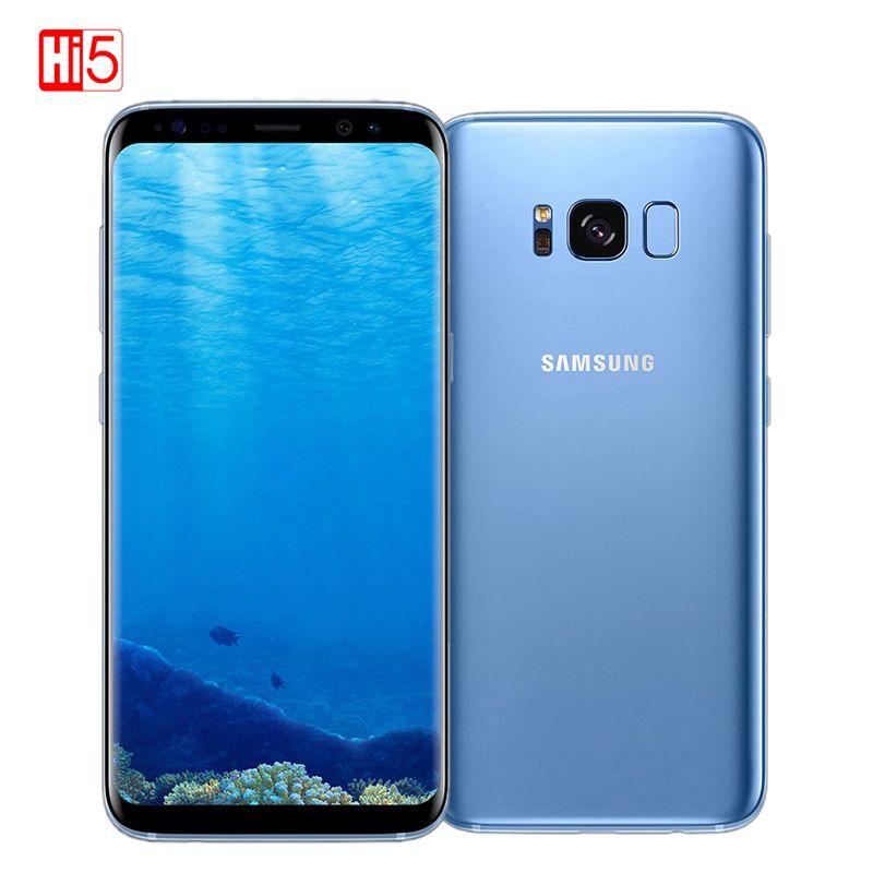 Original Entsperrt Samsung Galaxy S8 Plus 4g RAM 64g ROM 6,2 zoll Qualcomm Octa Core 4g LTE handy Fingerprint Android 7.0