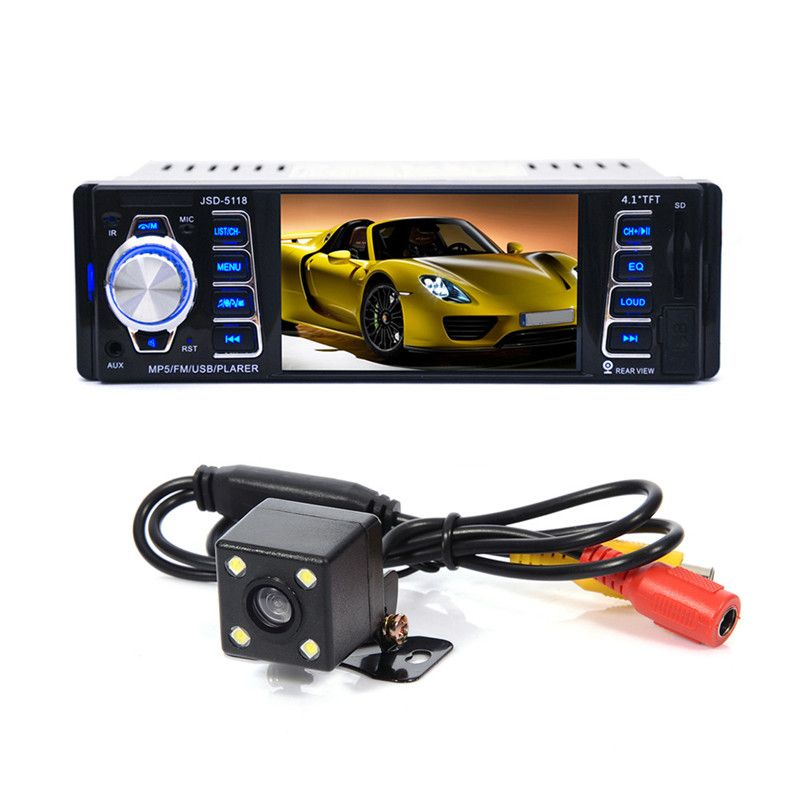 4.1 inch HD TFT 1 Din Autoradio Bluetooth Car Radio Sound Systems Head Unit With USB SD Aux A2DP ISO Connector 4.1