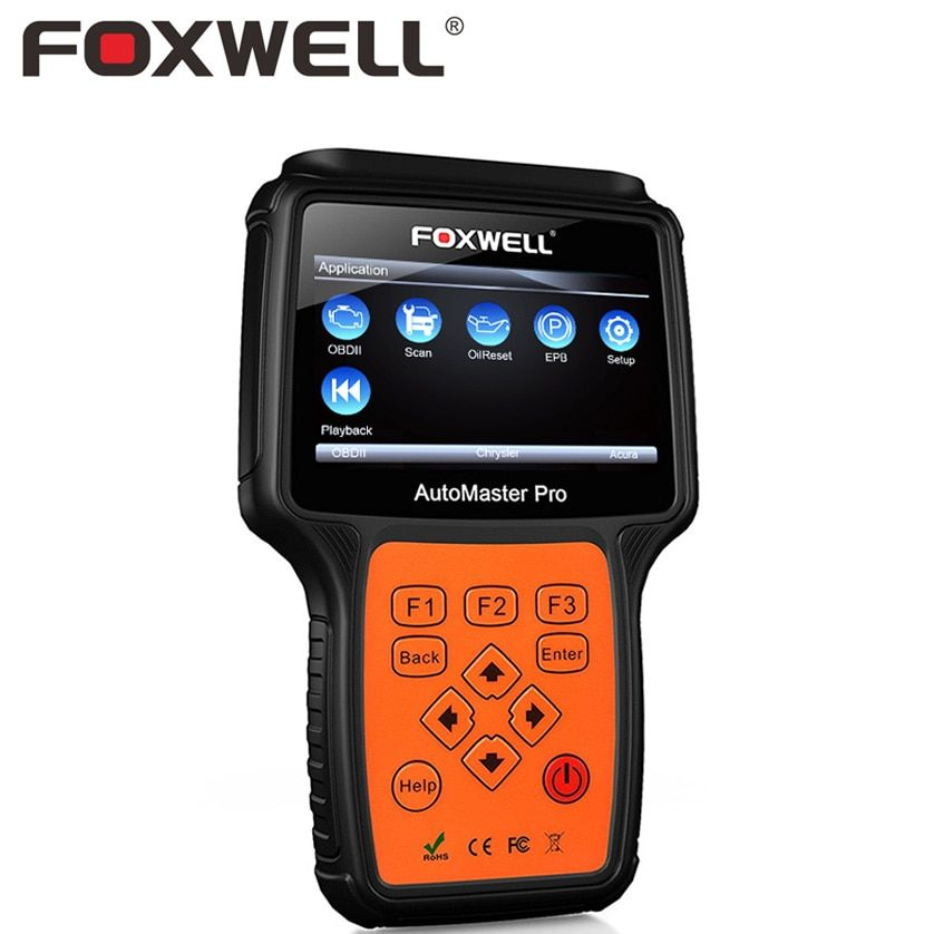 FOXWELL NT624 PRO Full System Auto OBD2 Diagnostic Tool Car ABS Airbag SRS Crash Data Reset OBD 2 Scan Tools Automotive Scanner