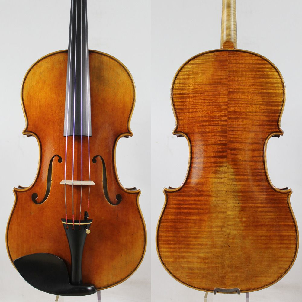 Top Oil Varnish! Master level!Copy Antonio Stradivari 17 Viola All European WoodPowerful tone! Free Shipping!