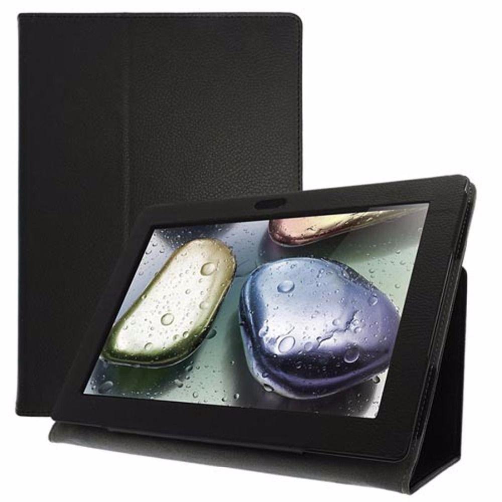 LIVRAISON GRATUITE pu en cuir ideapad S6000 mince couverture folio case-pour lenovo s6000l L H F 4G 16G Flip book cover case avec stylus