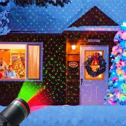 Stage Efeito de Luz Do Gramado Do Jardim ao ar livre de Fadas Céu da Estrela Do Laser Projetor À Prova D' Água Paisagem Jardim Parque Lâmpada Decorativa de Natal