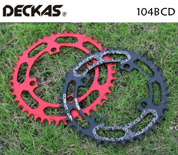 DECKAS 104BCD 40/42/44/46/48/50/52T Mountain Bicycle Chainwheel MTB bike crankset Aluminum Narrow Wide Chainring BCD 104