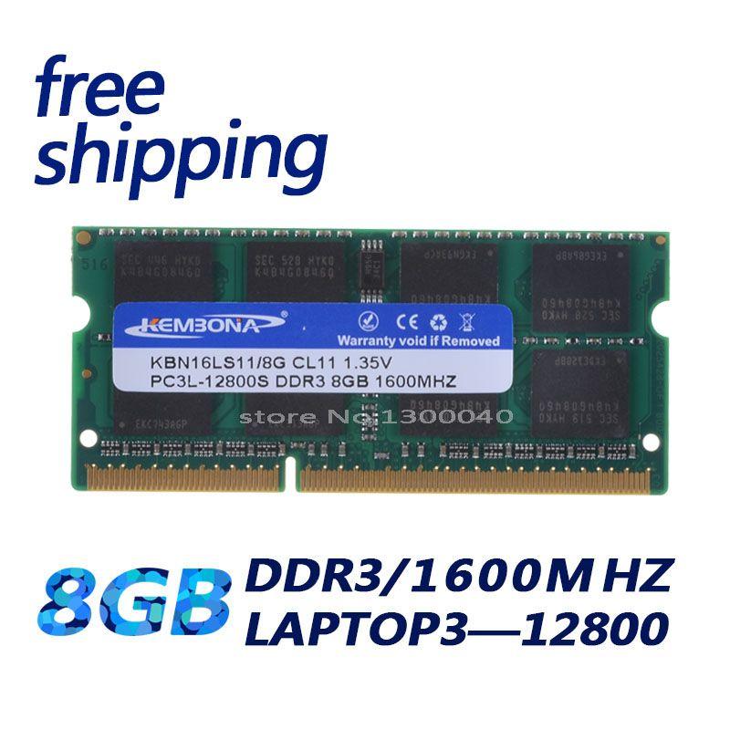 KEMBONA computer Laptop Memory DDR3L DDR3 8GB 1600MHz PC3-12800 1.35V KBN16LS11/8 Non-ECC CL11 SODIMM Intel Memory Ram