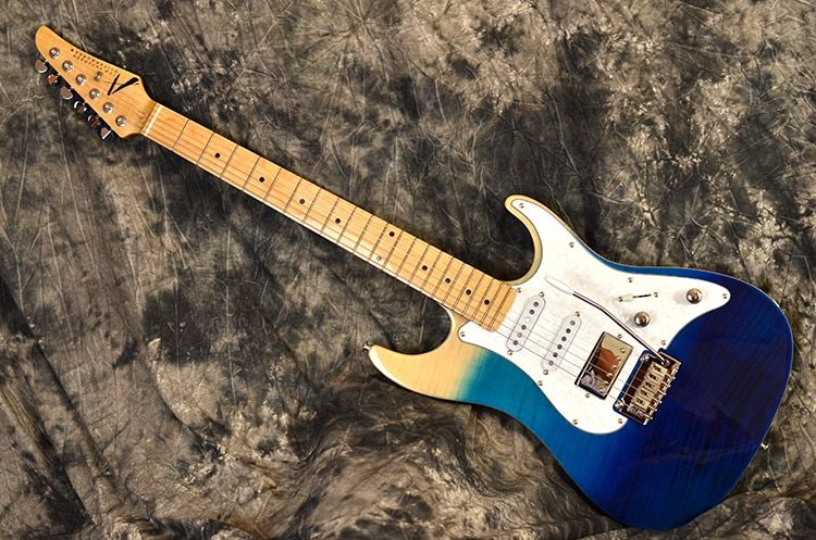 1991 Tom Anderson Guitar Works Drop Top Electric Guitar Alnico Pickups AAA Grade Flamed Maple Top And Binding
