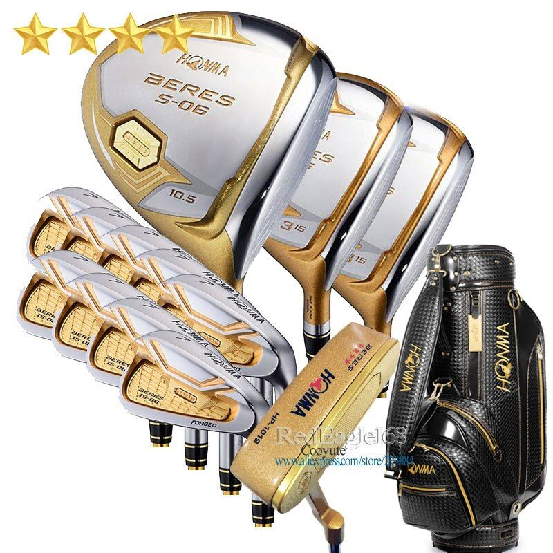 Neue Compelete club set HONMA S-06 4 sterne Golf clubs Fahrer Fairway holz eisen beutel putter Graphit Golf welle Freies verschiffen