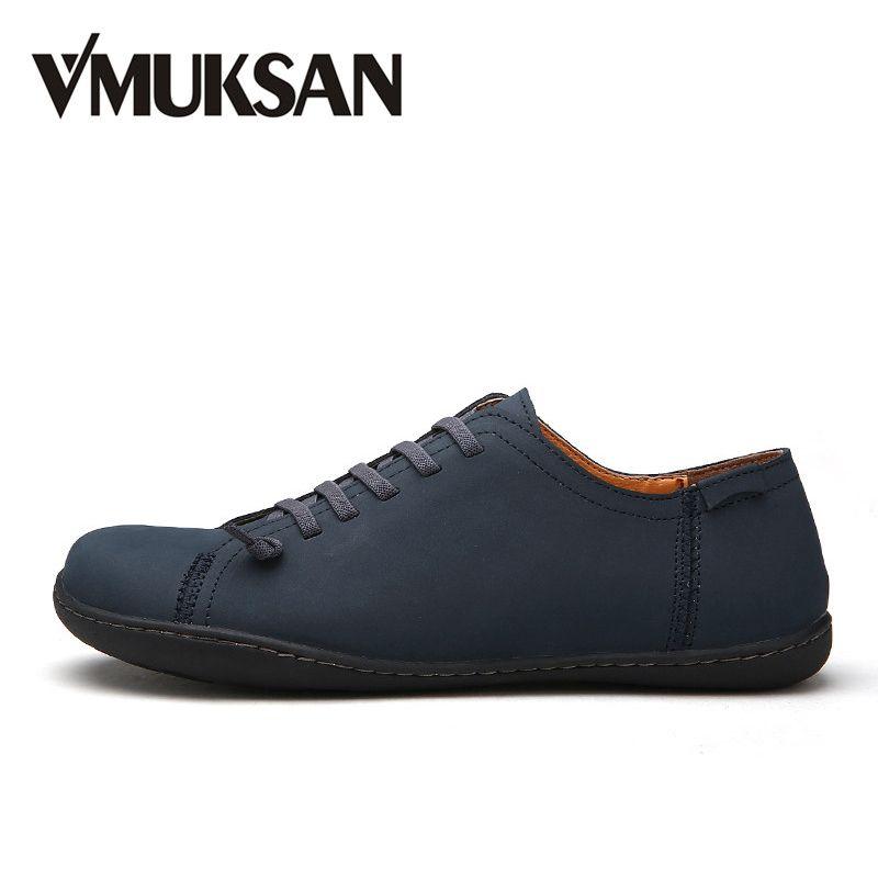 VMUKSAN New 2018 Mens Shoes Split Leather Men's Flats Handmade Mens Loafers Fashion Designer Slip On Espadrilles