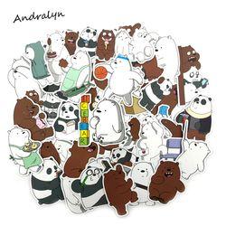 36 Pcs/lot Kartun Lucu Beruang Kecil Stiker Mainan Pvc Tahan Air Graffiti Sticker untuk Laptop Bagasi Mainan Mobil Styling