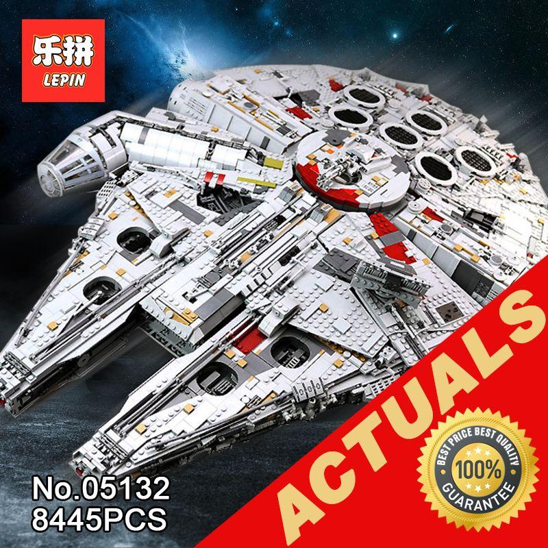 lepin 05132 star destroyer millennium falcon compatible with LegoINGlys 75192 bricks model building blocks Wars