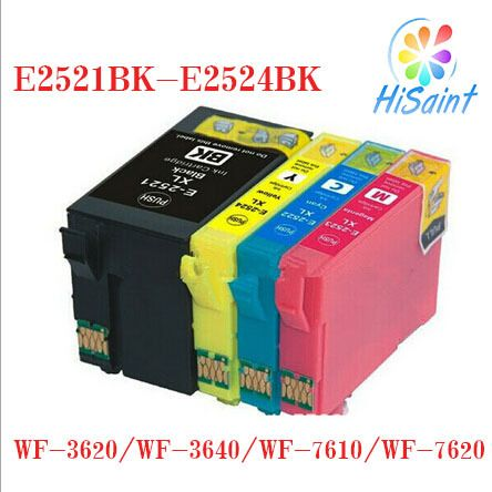 ink cartridge compatible for Epson E2521 E2522 E2523 E2524  for WF-3620/WF-3640/WF-7610/WF-7620