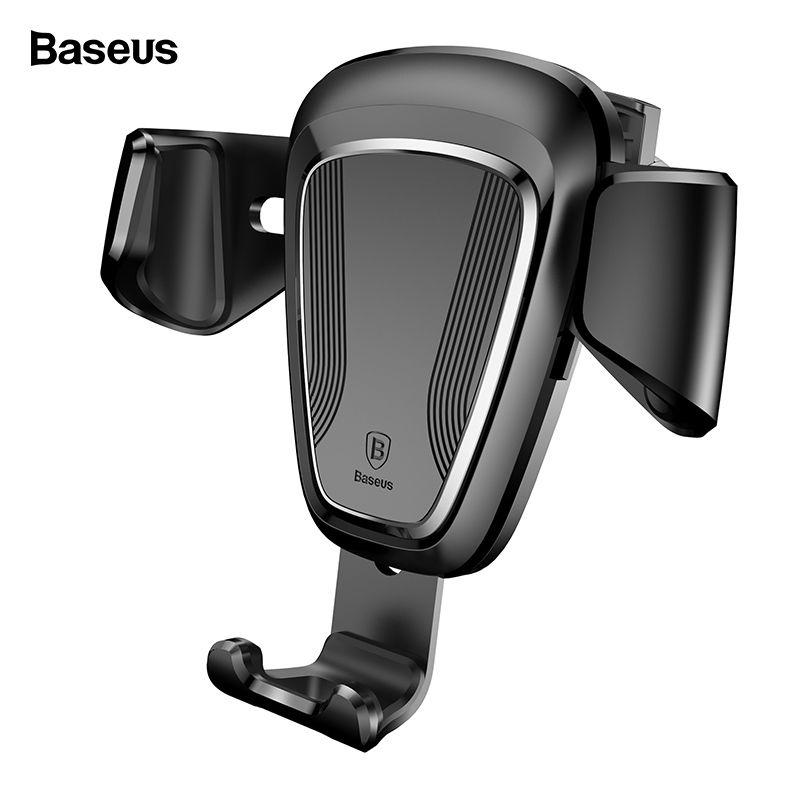 Support pour téléphone de voiture Baseus gravité pour iPhone Xs Max X Samsung S10 S9 support d'aération support pour téléphone Mobile pour téléphone dans le support de voiture