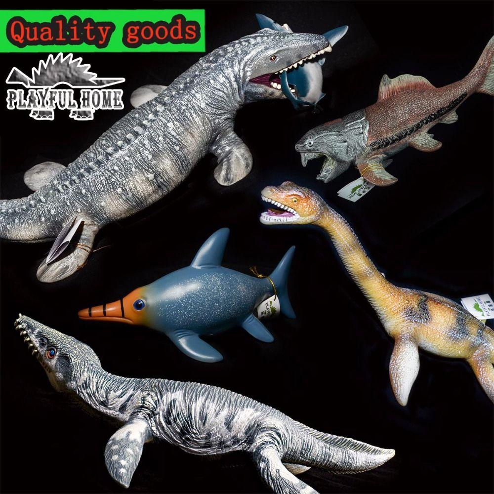 Большой Хороший динозавр мозазавра 3D модели мягкий ПВХ Океан морской жизни Животные фигурки Игрушечные лошадки для взрослых Для детей Колл...