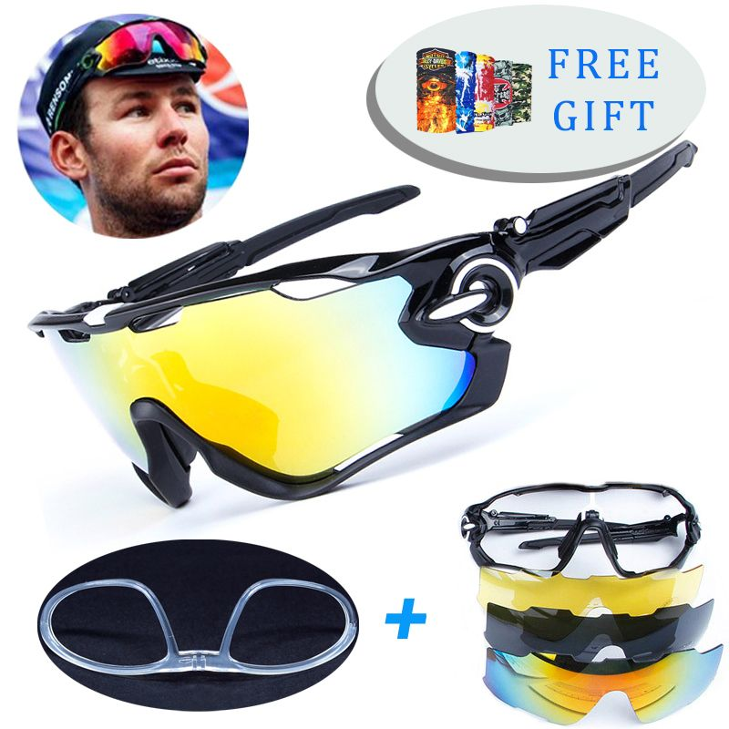 4 Lens TR90 Outdoor Sports Polarized Cycling Glasses Men Women Bike <font><b>Goggles</b></font> Bicycle Cycling Eyewear SunGlasses With Myopia Frame