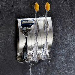 Держатель для зубной щетки рустостойкий полированный Органайзер из нержавеющей стали липкий настенный держатель для ванной Душевой зубно...