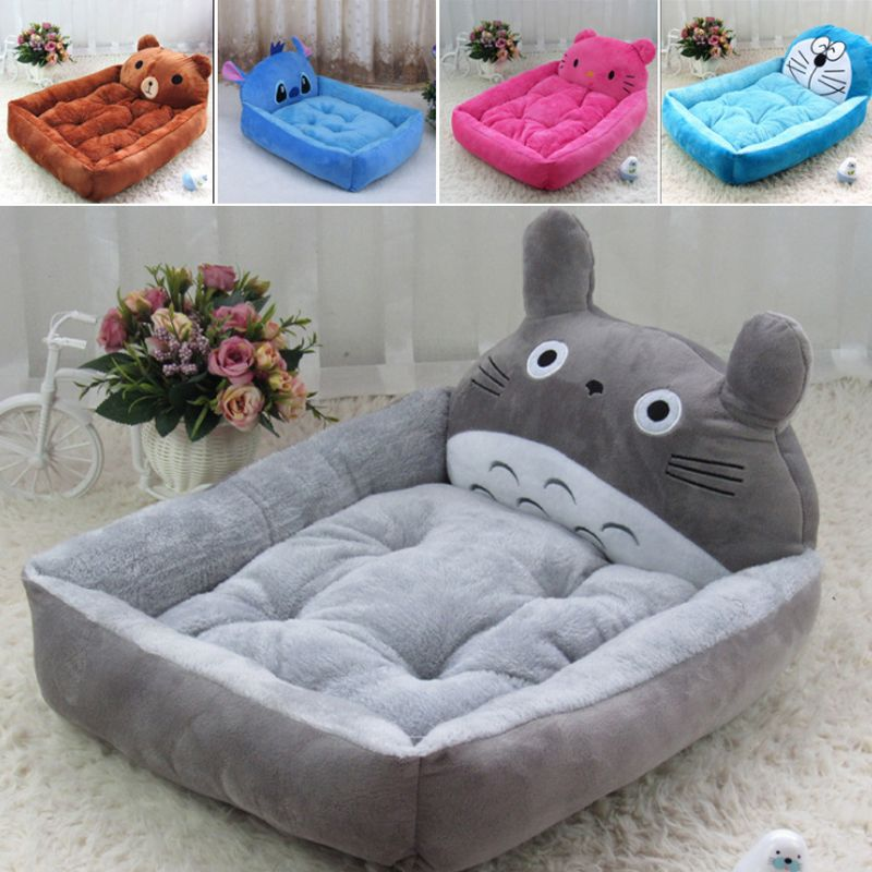 Small Dog Bed Animal Cartoon Shaped Pet Dog House Sofa Puppy Flannel Kennel Cat Litter pet cat Mats big dogs kennel S-XL cotton