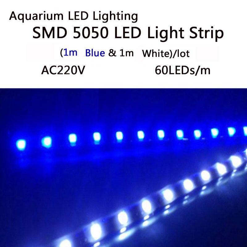 Aquarium LED Éclairage de Bande SMD5050 LED Grow Lights Bande Pour Aquatiques Plantes Poussent Dans Le Réservoir de Poissons AC 220 V