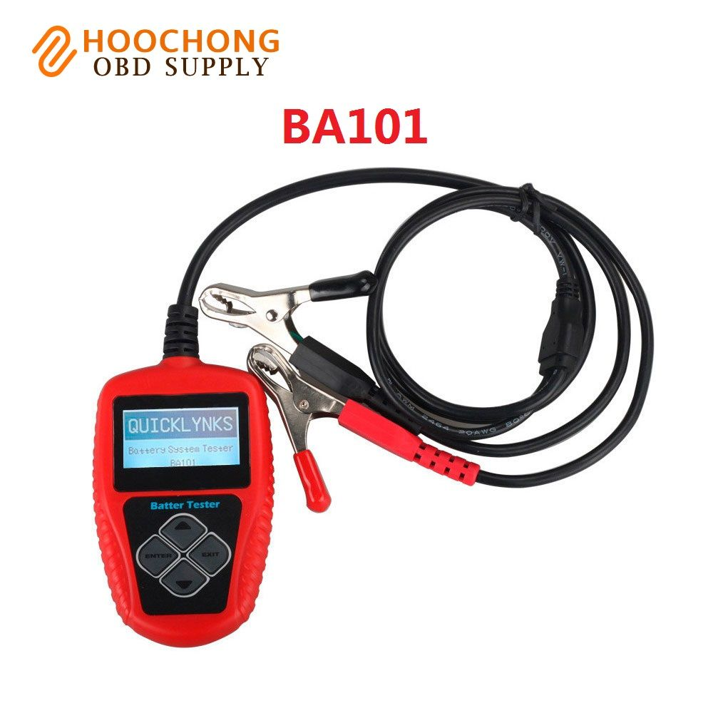 2017 New arrival BA 101 for gasoline cars QUICKLYNKS BA101 Automotive 12V Vehicle Battery Tester scanner Free Shipping