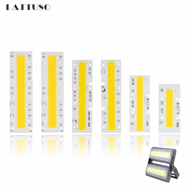 LATTUSO LED COB Ampoule Lampe Lumière 30 w 50 w 70 w 100 w 120 w 150 w 220 v entrée IP65 Smart IC Fit Pour Le BRICOLAGE En Plein Air YXT LED Projecteur puce