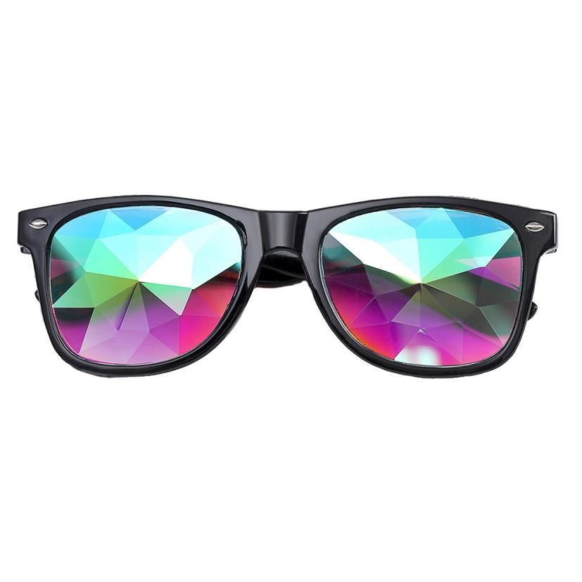 Woweile#5001 Sunglasses Kaleidoscope Glasses Rave <font><b>Festival</b></font> Party EDM Sunglasses Diffracted Lens