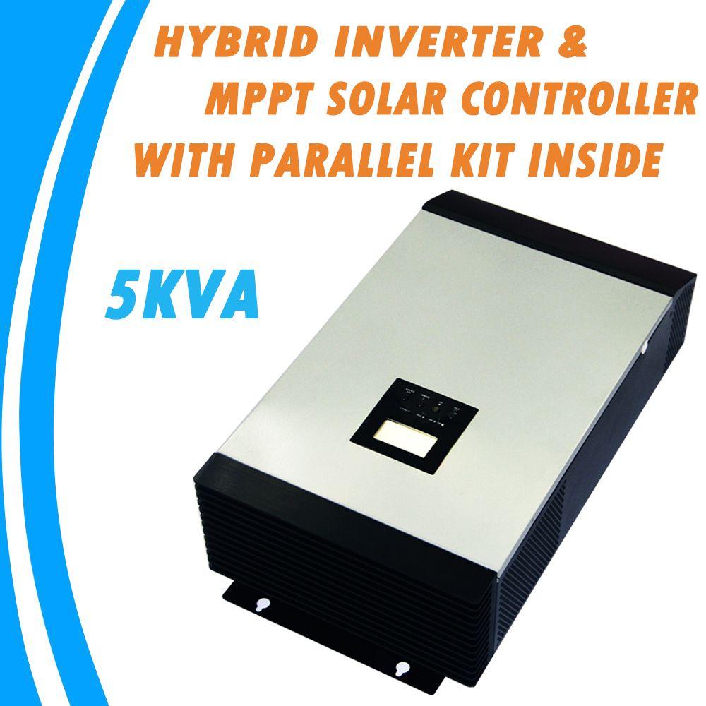 5KVA Rein Sinus Hybrid Wechselrichter Eingebauten MPPT Solarladeregler mit Parallel Kit Innen MPS-5K