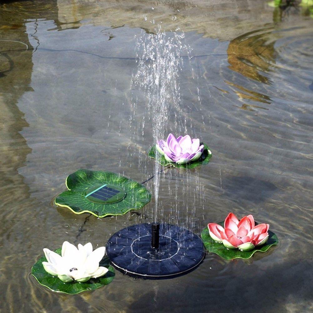 Solar Water Floating Pump Fountain 200L/H Solar Garden Fountain Artificial Outdoor Fountain 7V/1.4W Solar Pump Kit Set