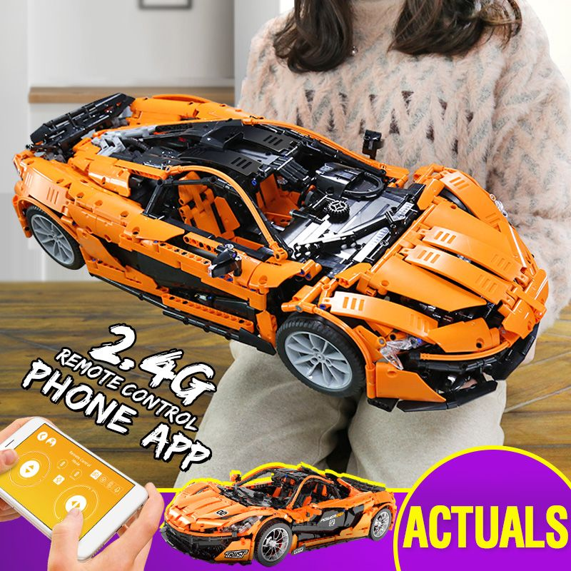 From Spain DHL 20087 Technic Car The MOC-16915 McLaren P1 Motor Car Set Building Blocks Bricks Legoings App RC Christmas Toys