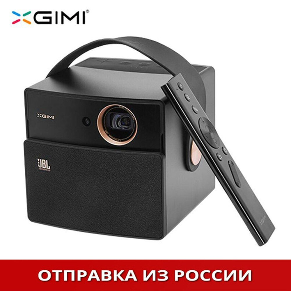black XGIMI CC Aurora DLP Projector Home Theater Android Support Portable 3D 4K HD Video With Battery Video projecteur