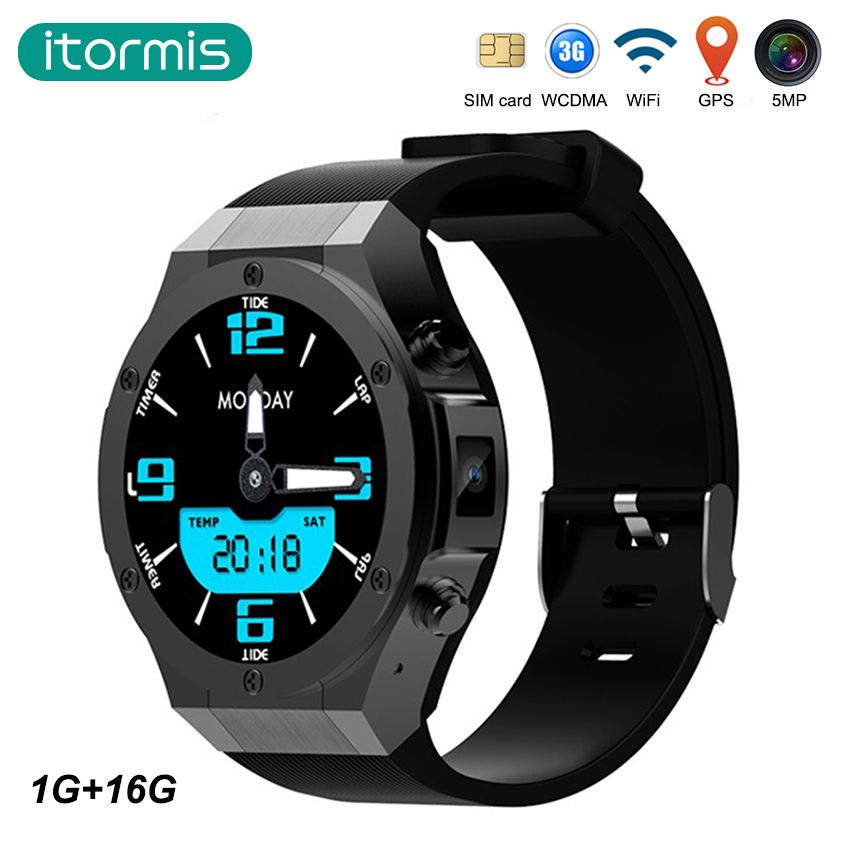 itormis Bluetooth Android smart watch Smartwatch 3G SIM card MTK6580 1G+16G 5MP Camera WiFi GPS Heart rate for android & iphone