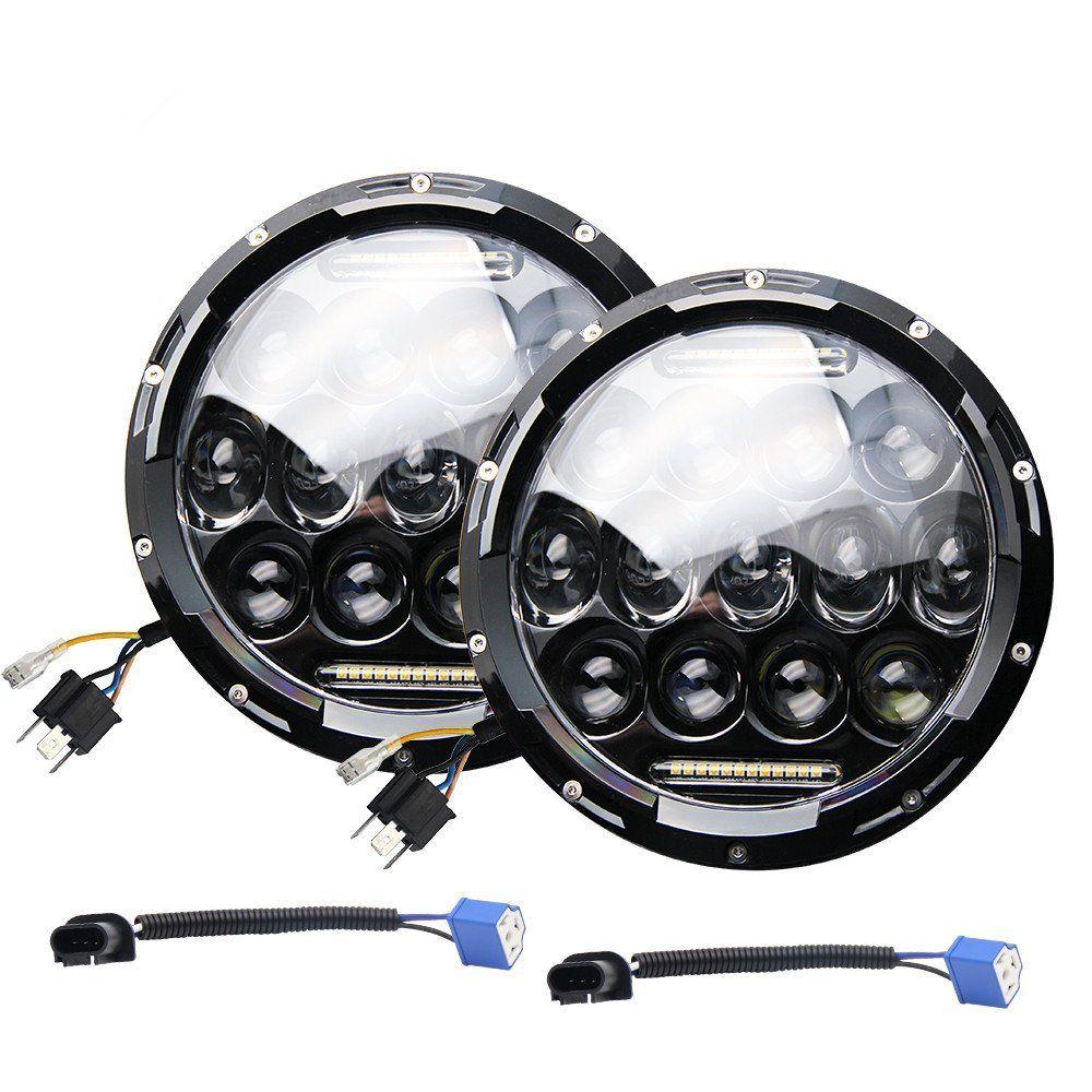 Für Lada 4x4 städtischen Niva 7 Zoll 75 Watt Scheinwerfer 9000 Lumen Hallo/Lo Strahl Mit Tagsüber Lauflicht (DRL) für Jeep Wrangler JK TJ LJ