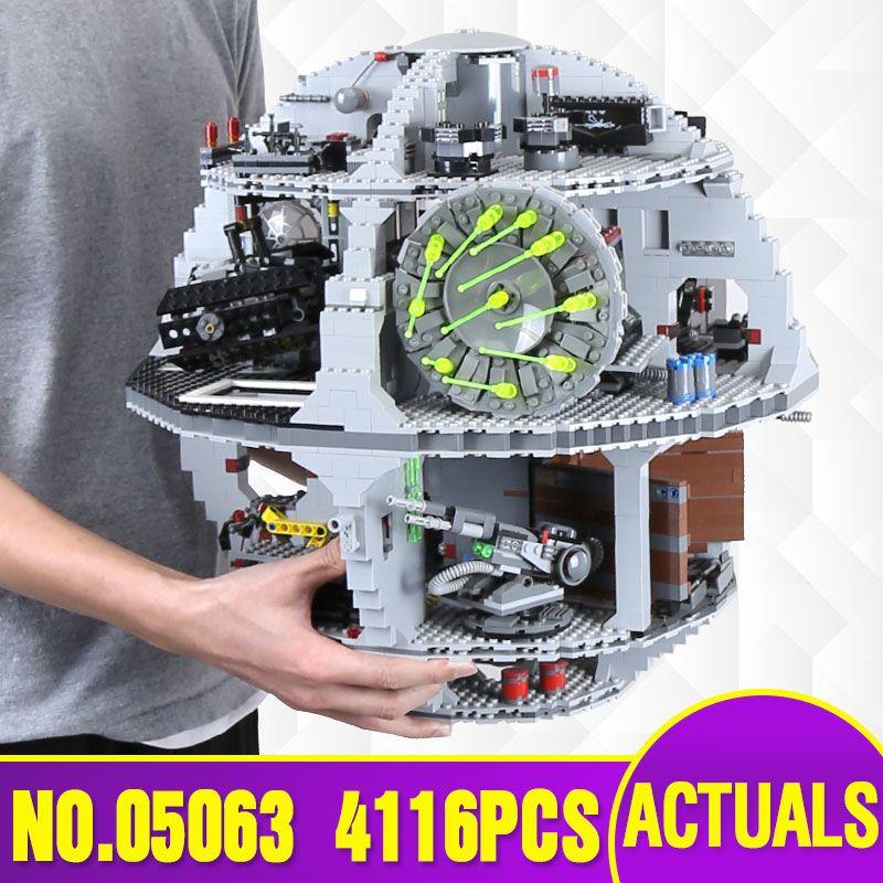 DHL Free Shipping Lepin 05063 4016pcs Star Series Wars Death Star Building Block Bricks Toys Kits Compatible legoed with 75159
