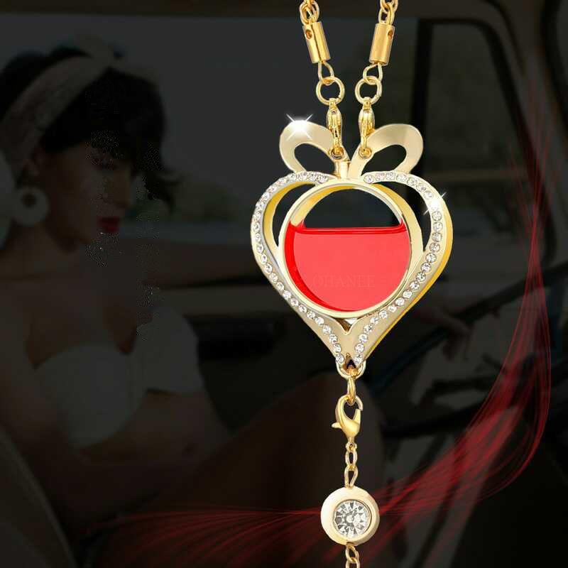 OHANEE Auto car air freshener perfume heart pendant parfum desodorisant voiture essential oil diffuser car styling accessories