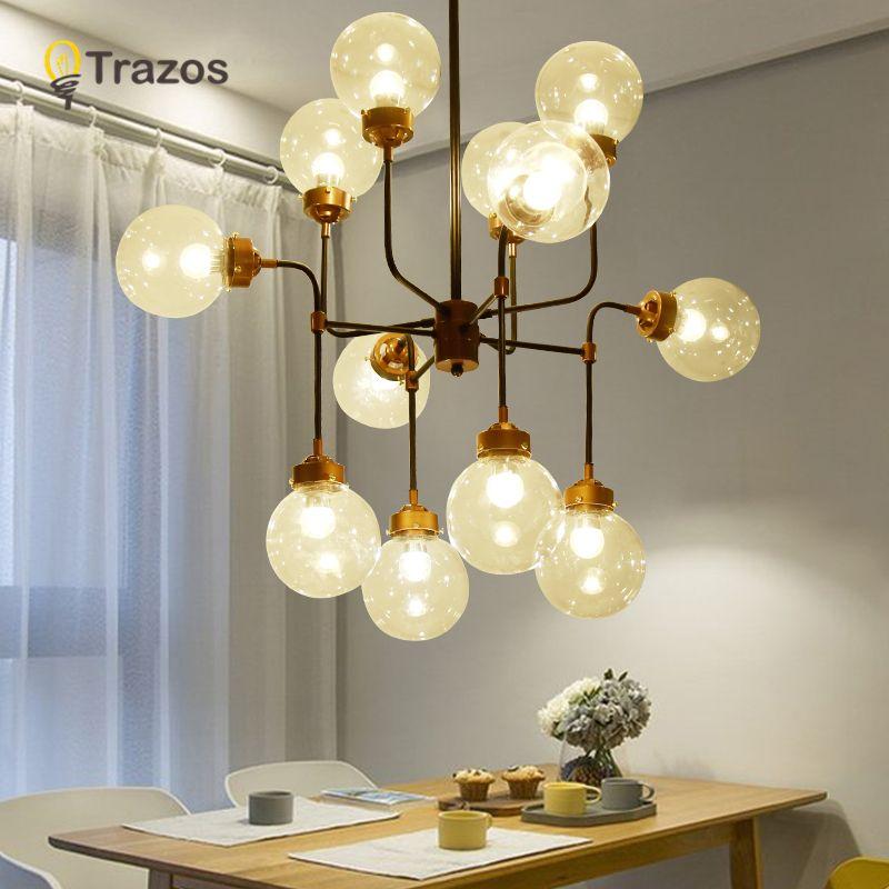 TRAZS Moderne Glas Anhänger Licht Nordic Esszimmer Küche Licht Designer Hängen Lampen Avize Lustre Beleuchtung anhänger licht
