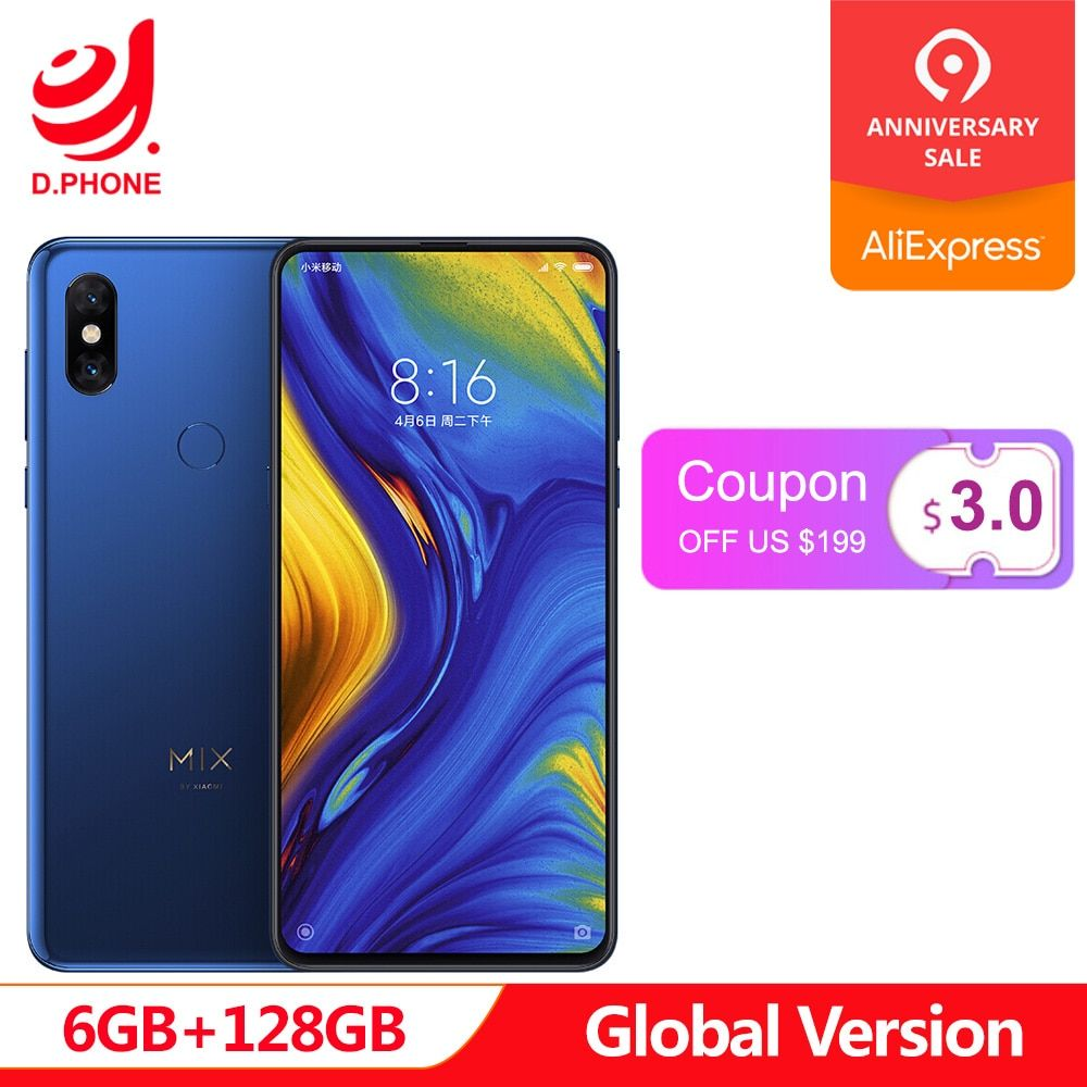 In Lager Globale Version Xiao mi mi mi X 3 Snapdragon 845 6 GB 128 GB 6,39