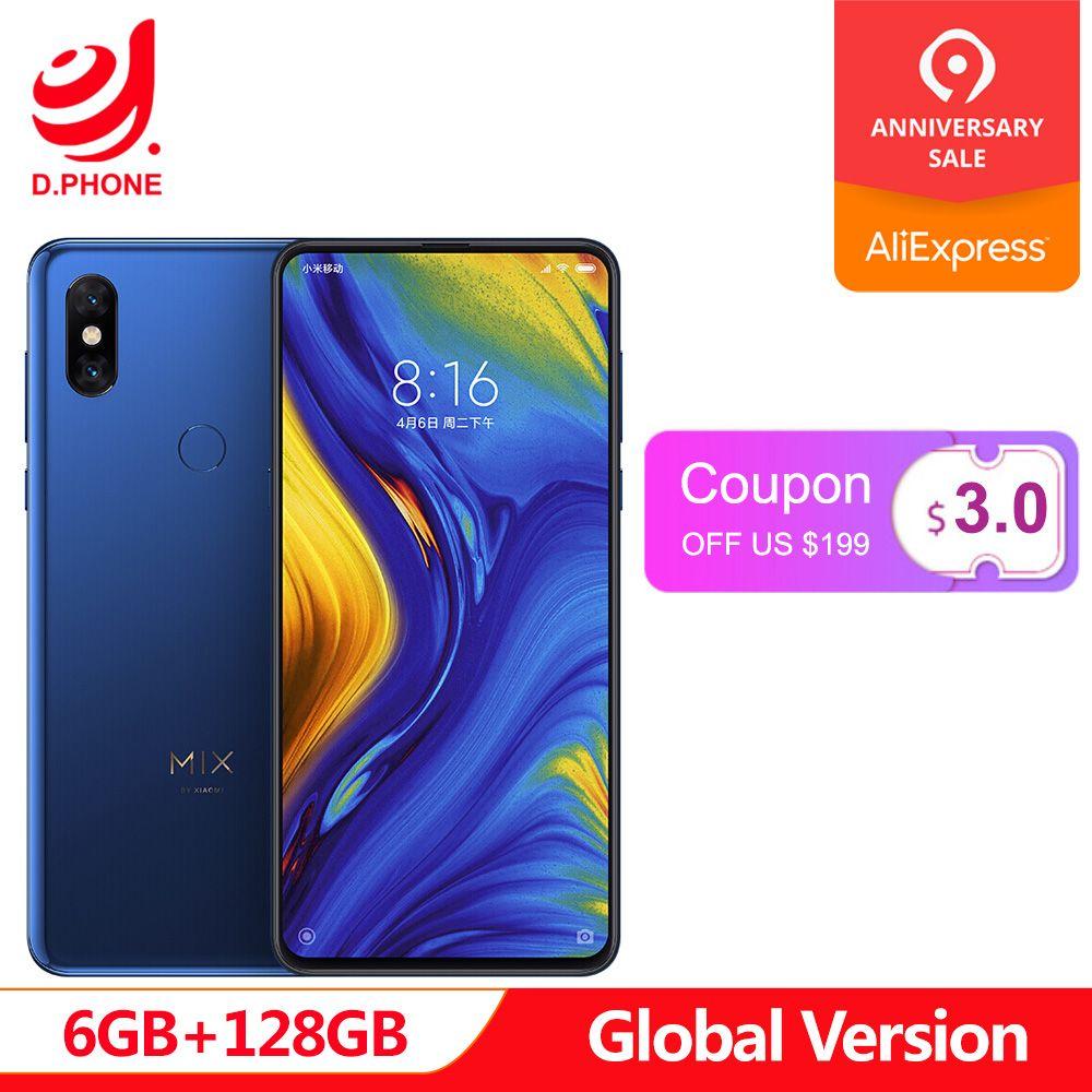 In Lager Globale Version Xiao mi mi mi X 3 Snapdragon 845 6 GB 128 GB 6,39