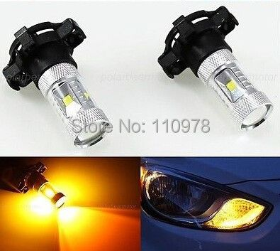 2x PY24W CREE Chips LED GELB 30W BLINKER 650 LUMEN For ALFA AUDI BMW FIAT 500 and so on